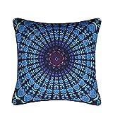 "Sleepwish Bohemian Mandala Pillow Cover Retro Floral Medallion Moroccan Style Cushion Cover Colorful Elephant Pillow Sham Decor 18""x18"" (5)"
