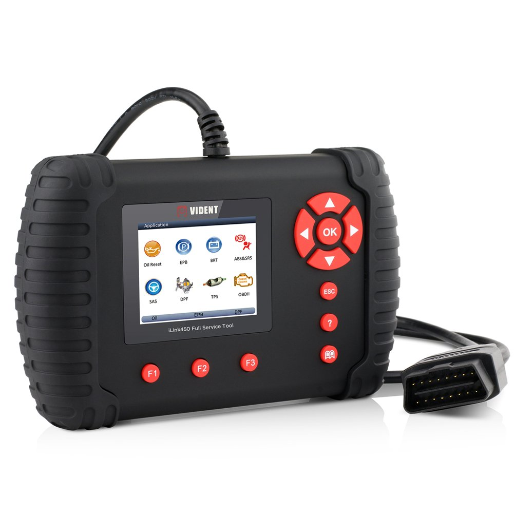 VXCAN iLink450 OBD2 Scanner Code Reader for ABS SRS System Support Oil Reset EPB SAS TPS DPF Regeneration Battery Configuration OBDII Diagnostic Scan Tool by VIDENT (Image #4)