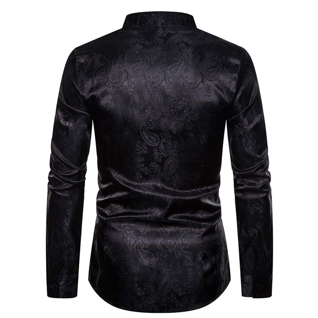 DEDREAM 2019 Mens Soft Casual Senior Lapel Diamond Velvet T Shirt Top Blouse Black