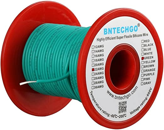 8 AWG GAUGE WIRE WHITE GREEN RED /& BLACK  PRIMARY STRANDED COPPER POWER 10/' EACH