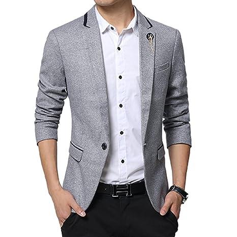 Moin Hombres Trajes de Vestir de la Moda de La juventud chaqueta delgada Abrigo informal de