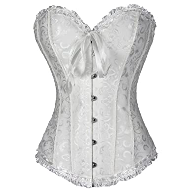 76a3e6a64b Everbellus Women Waist Trainer Cincher Corset with 24 Spiral Steel Bone   Amazon.co.uk  Clothing