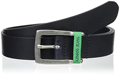 b1cd9c5ac98a Armani Jeans Ledergürtel Herren Gürtel Leder vintage blu EU 90 A6132 E2 G8