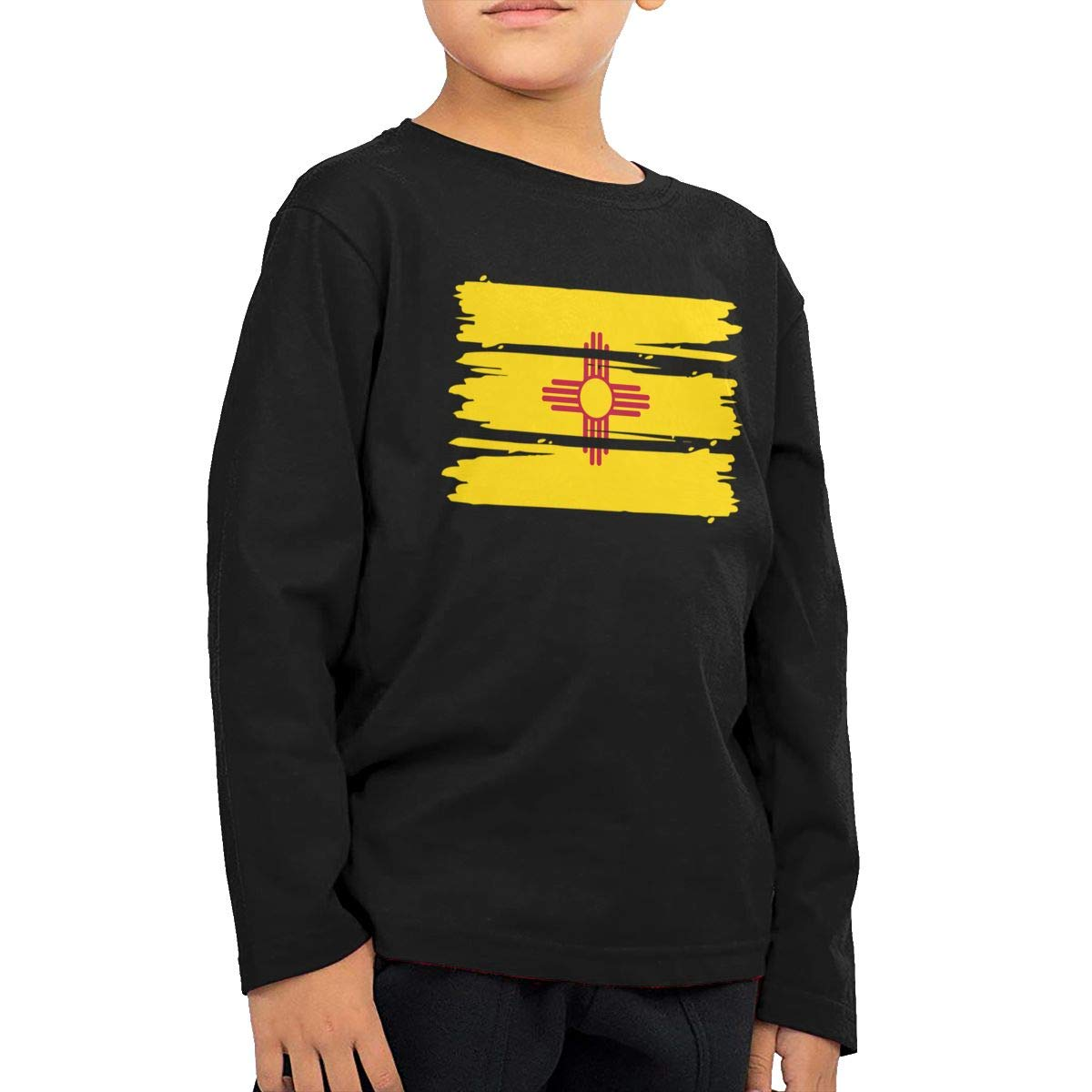 CERTONGCXTS Baby Girls Little Boys New Mexico Flag ComfortSoft Long Sleeve T-Shirt