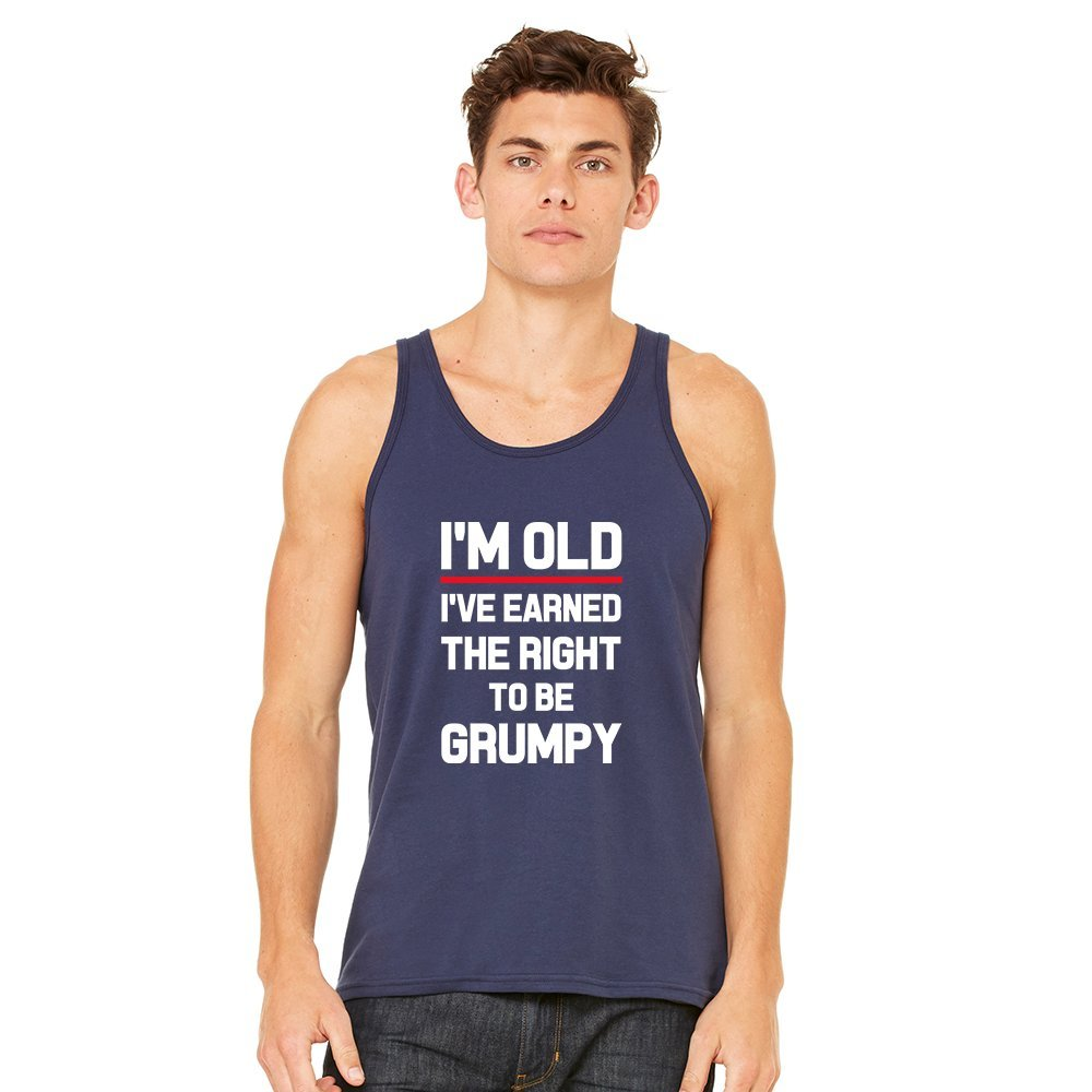 Mad Over Shirts Im Old Ive Earned The Right to be Grumpy Unisex Premium Tank top