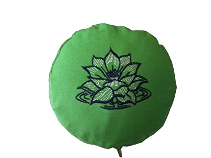 Buckwheat Yoga Bolster, Green Embroidered: Amazon.es ...
