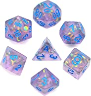 cusdie Frosted Dice Polyhedral Dice Sets DND for Dungeons and Dragons(D&D) Role Playing Game(RPG) MTG Pathfinder Table Game