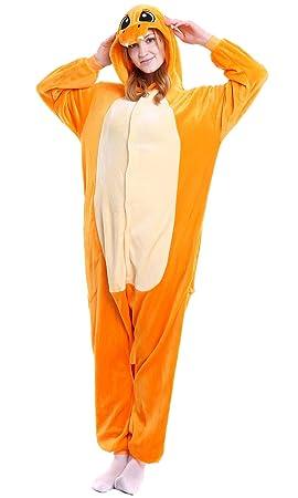 Dolamen Adulto Unisexo Onesies Kigurumi Pijamas, Mujer Hombres Traje Disfraz Animal Pyjamas, Ropa de