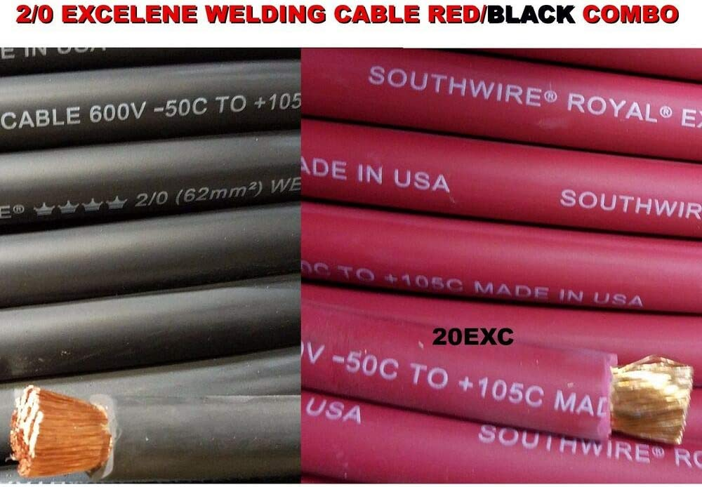 150/' 4//0 EXCELENE WELDING CABLE BLACK MADE IN USA  600V UP TO 600 AMPS