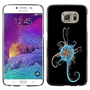 LECELL -- Funda protectora / Cubierta / Piel For Samsung Galaxy S6 SM-G920 -- Blue Abstract --