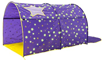 wholesale dealer a73c6 ea221 Alvantor Starlight Bed Canopy Dream Kids Play Tents Playhouse Privacy Space  Twin Sleeping Indoor Grow in The Dark Stars Boys Girls Toddlers Pop Up ...