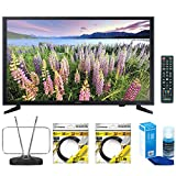 Samsung 32-Inch Full HD 1080p LED HDTV (UN32J5003) with Durable HDTV and FM Antenna, 2x 6ft High Speed HDMI Cable Black & Universal Screen Cleaner for LED TVs Large Bottle