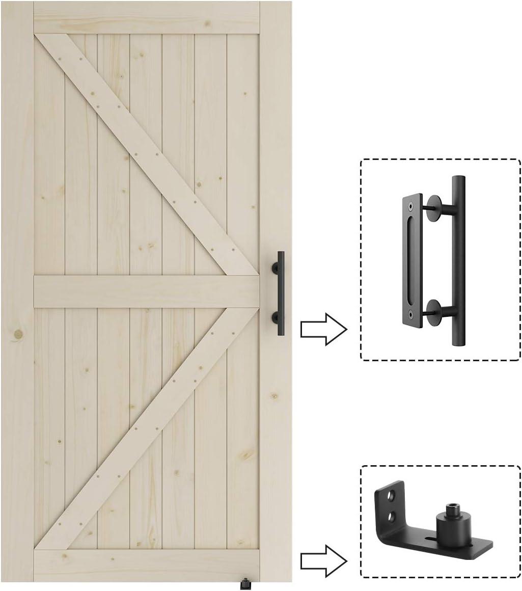 SmartStandard - Puerta corrediza de madera de granero de 42 x 84 ...