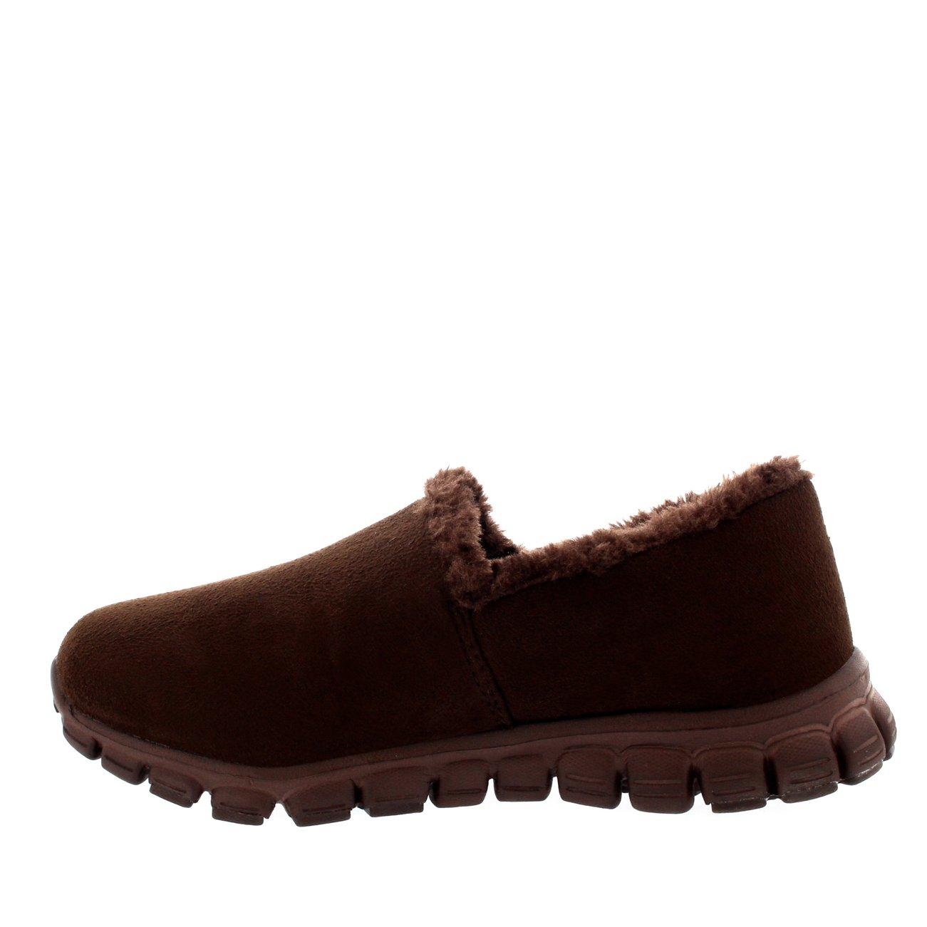Mujer Pelaje Caliente Sin Cordones Zapatos para Caminar Entrenadores - Marrón - UK4/EU37 - BY0004: Amazon.es: Zapatos y complementos