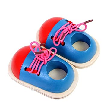 Toy Learn How To Tie Shoelaces Shoes Lacing Hand Coordination Development new.