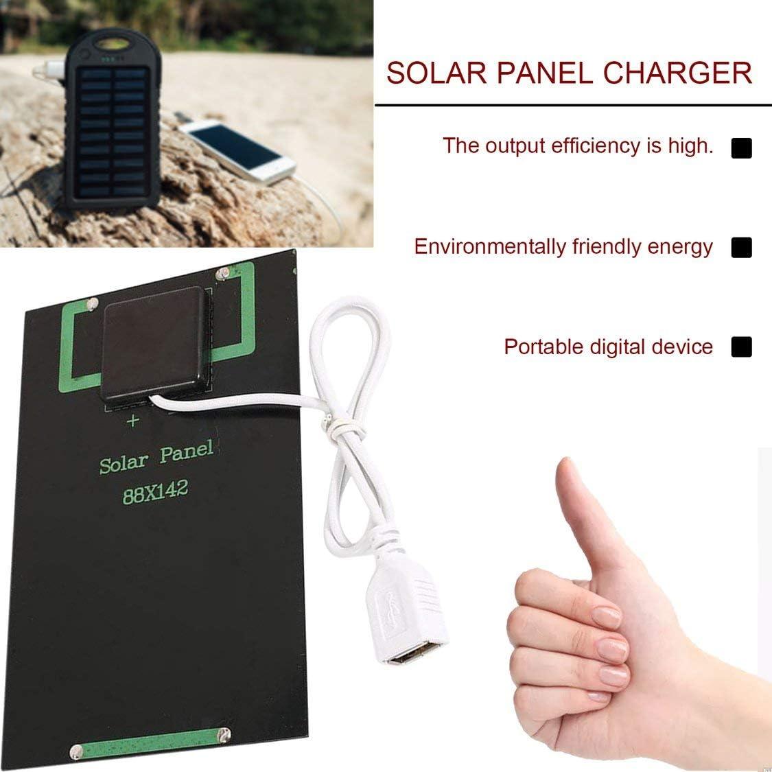 Chargers Electronics & Photo Fancysweety 5W 5V Solar Panel Battery ...