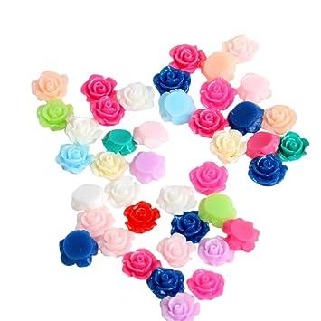 50 Chytaii Rosen Blumen Harz Kleine Rosen Deko Blumen Hand Diy