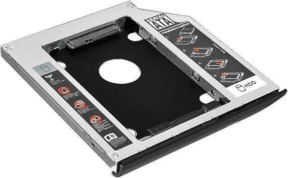 EHZ-Shop 2do disco duro SSD de 2,5 pulgadas SATA disco duro caja para HP EliteBook 2530p 2540p con bisel de placa frontal a juego: Amazon.es: Electrónica