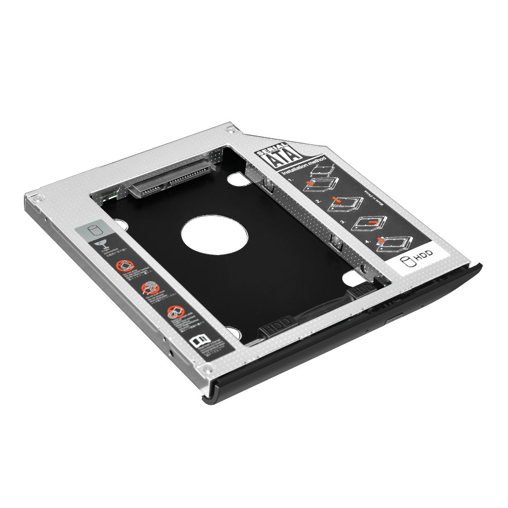 Taiyanggu 2nd HDD SSD Hard Disk Drive Enclosure Caddy,2.5 inch SATA to SATA Case ,for HP EliteBook 2530p 2540p with matched Faceplate bezel