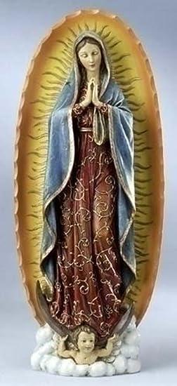 Roman Joseph s Studio Our Lady of Guadalupe Stoneresin Statue, 18 1 2 Inch