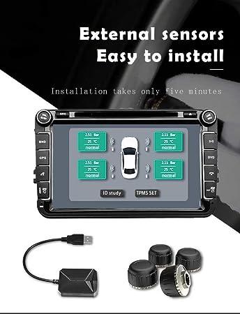 External Sensor Tire Pressure Monitoring System Car Android Sys Navigation TPMS
