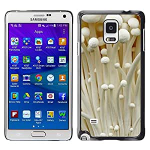 LECELL--Funda protectora / Cubierta / Piel For Samsung Galaxy Note 4 SM-N910 -- White Autumn Fungus Forest --