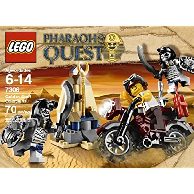 LEGO Pharaoh's Quest Golden Staff Guardians 7306: Toys & Games