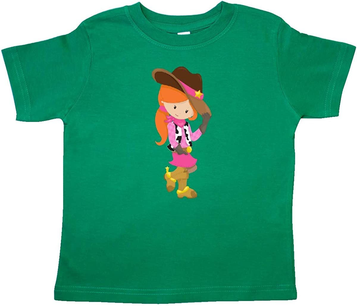 Girl with Cowboy Hat Orange Hair Toddler T-Shirt inktastic Cowboy Girl