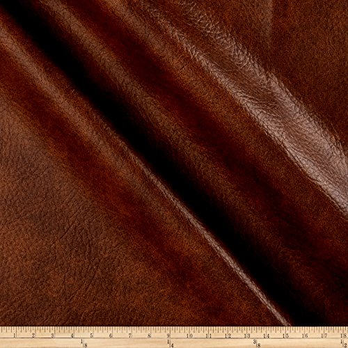 Richloom Tough Faux Leather Longville Cognac Fabric By The Yard Cognac Pillow