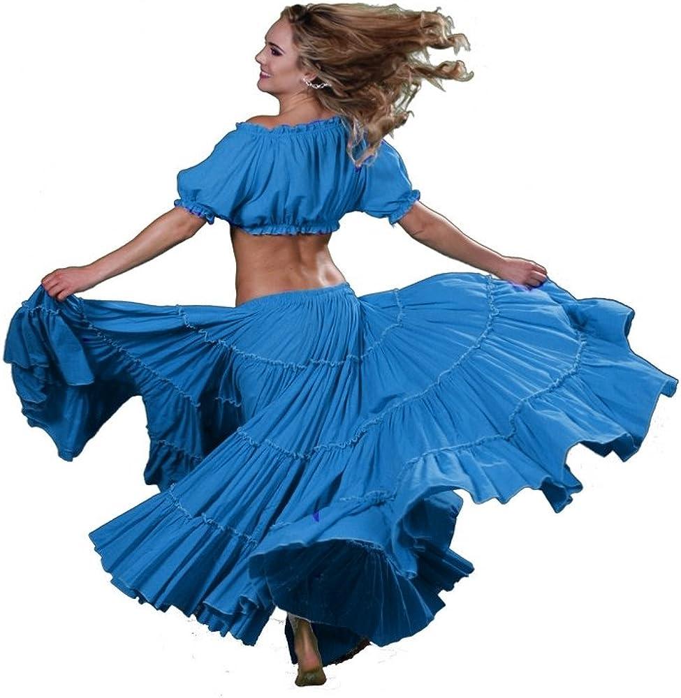 Miss para danza del vientre danza del vientre falda de Algodón ...
