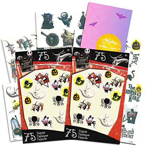 Nightmare Before Christmas Tattoos Party Favors Pack -- 150 Temporary Tattoos