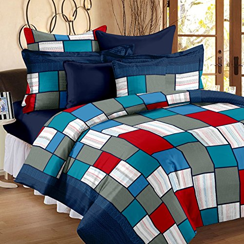Story@Home Candy 120 TC Cotton Bedsheets For Double Bed