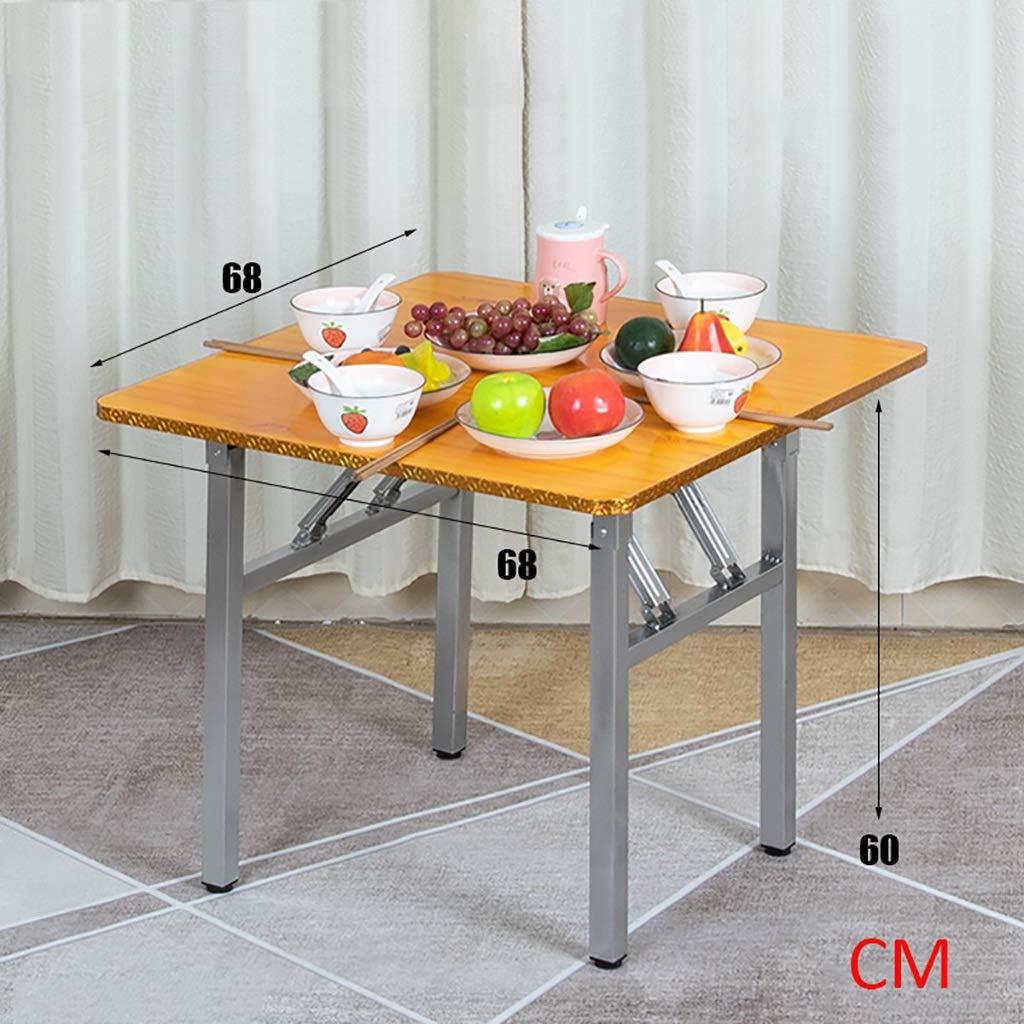 ZWJLIZI Fällbart bord, familjen till kvadraten på matbordet, den lilla lägenheten för portabelt kontor/lärandebord/utomhusbord (färg: A) c
