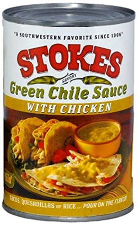 Amazon Com Stokes Green Chile Sauce With Chicken 15 Ounce Chile Verde Grocery Gourmet Food
