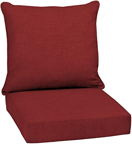 Arden Companies Arden Selections Ruby Leala Texture Outdoor Deep Seat Set – 46.5 in L x 25 in W x 6.5 in H