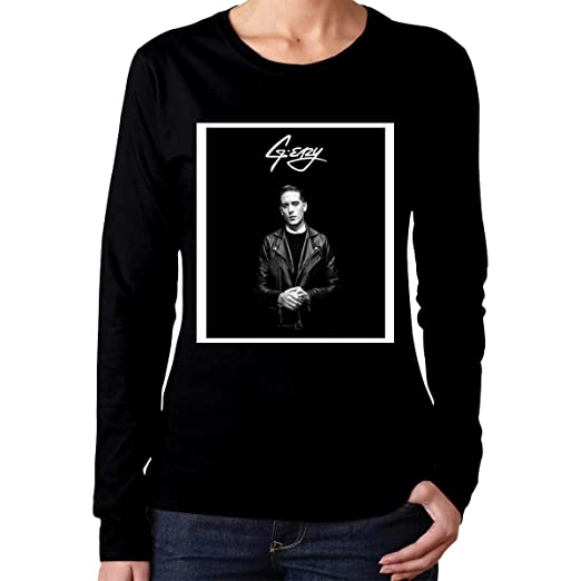 e0966cc5d42e Weiding Women s G-Eazy Merch Long Sleeve T-Shirts Black at Amazon Women s  Clothing store