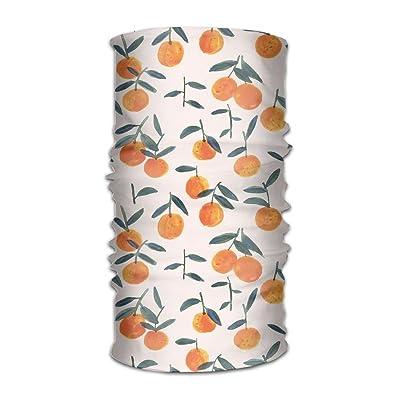 DFH Orange Watercolor Headband Mask Multi-use Sports Hair Band,Wide Headscarves,Bandanas Tube,Seamless Head Wrap,Sweatband Turban For Fitness,Running,Cycling,Yoga