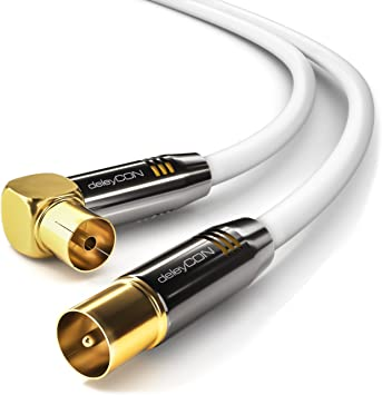 deleyCON 20m Cable de Antena TV HDTV Full HD: Amazon.es: Electrónica