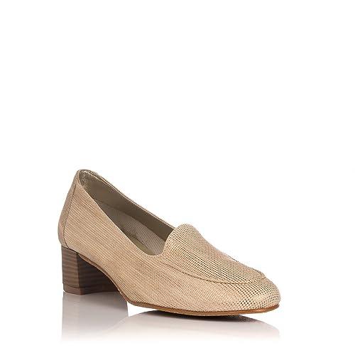 MARIA JAEN 600-200 Mocasin Piel Tacon Mujer: Amazon.es: Zapatos y complementos