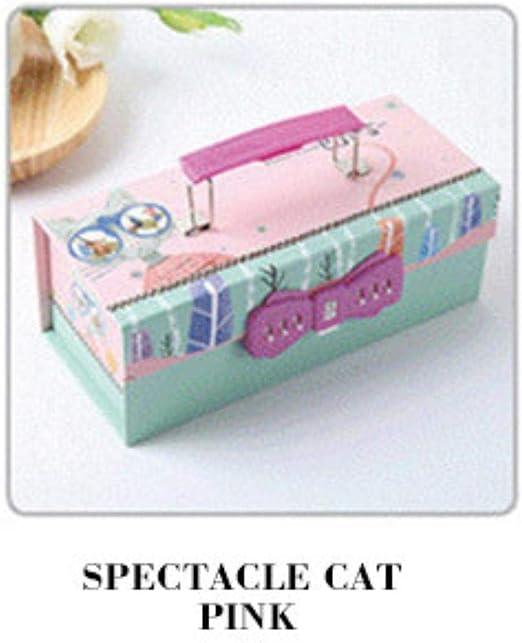 Lindo estuche para lápices de Corea Kawaii para niñas con contraseña, bolígrafo, estuche de papelería, suministros escolares de 3 pisos, color 01.: Amazon.es: Oficina y papelería