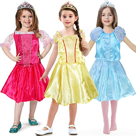 94b0af6dae519 Image Unavailable. Image not available for. Color: Princess Dress up Cloths  for Girls Role Play Costume Set ...
