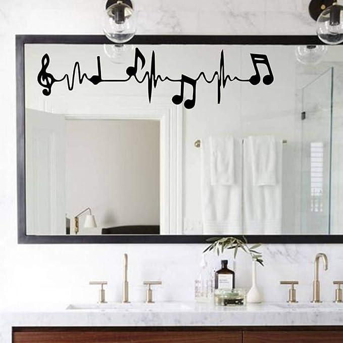 WHFLL Música Notas de Piano Electrocardiograma Creativo Arte ...