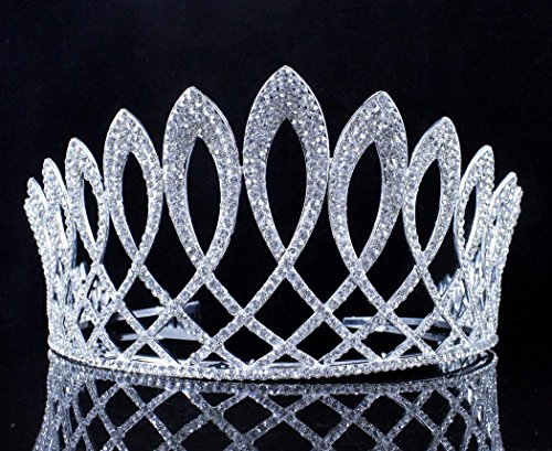 Exquisite Clear Austrian Crystal Rhinestone Tiara W Hair Combs Crown Prom T11925