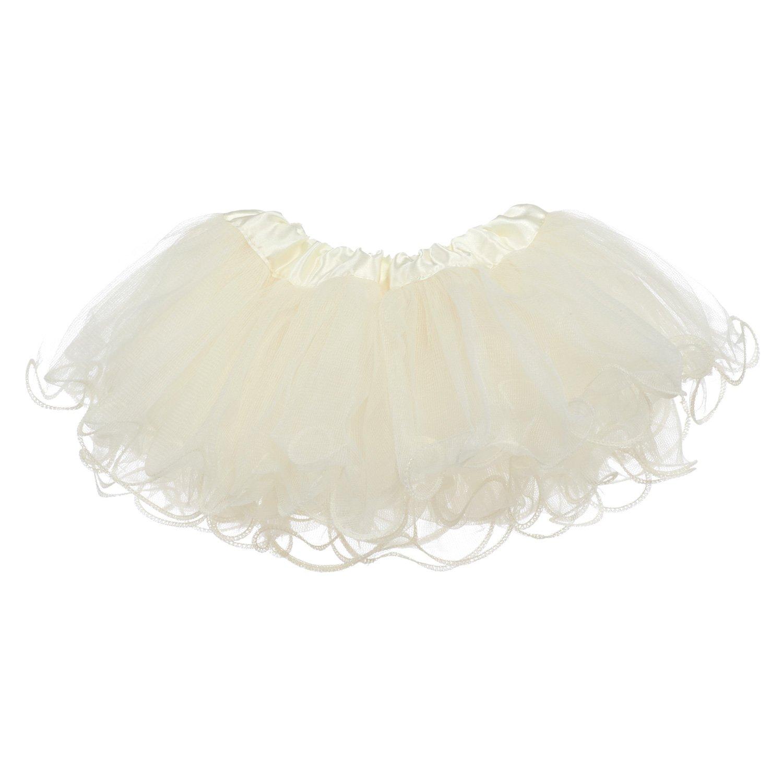 1705-030 Newborn - 3mo. My Lello Baby Tutu Ruffled Scallop Edge Skirt 5-Layer