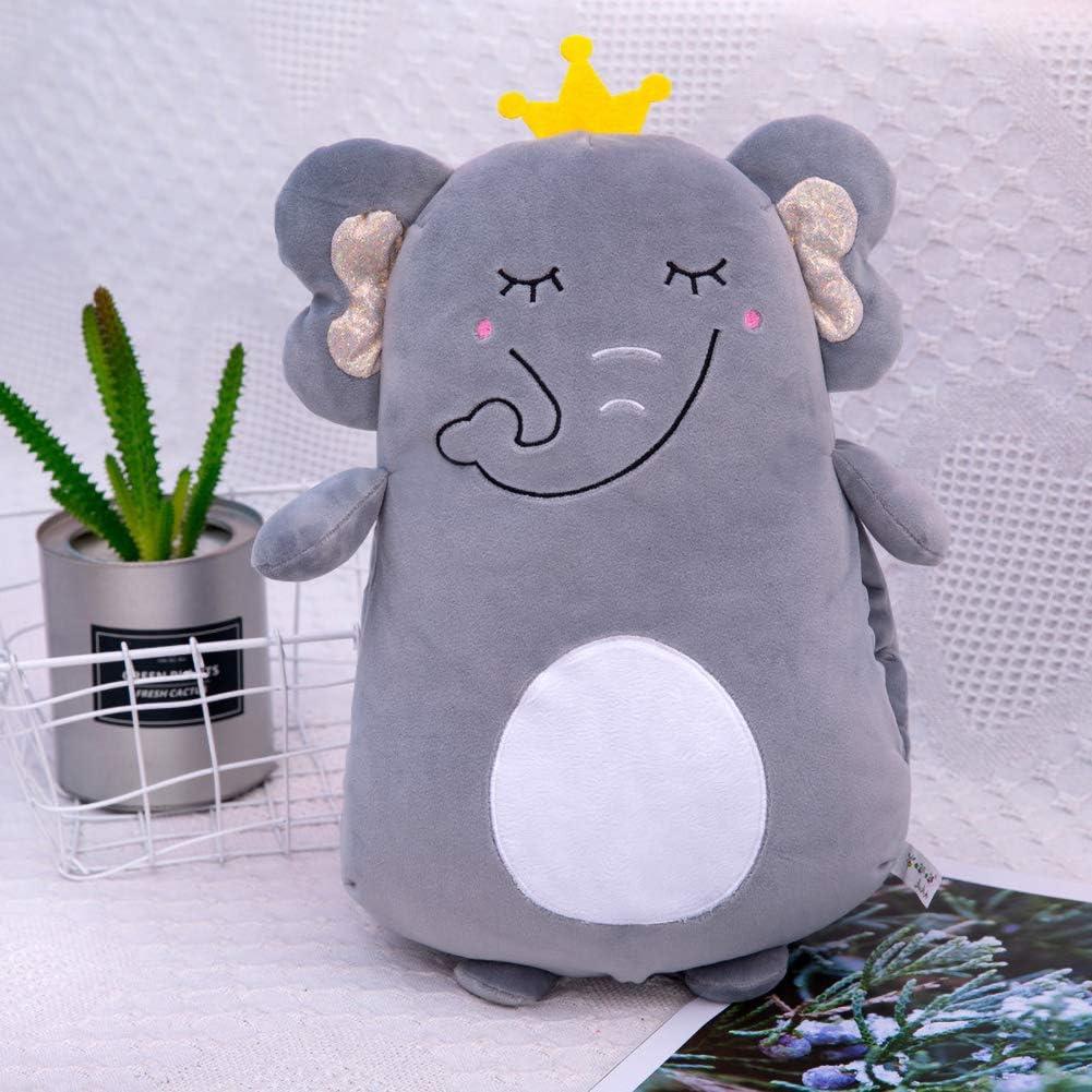 Asitlf Juguetes De Peluche,Juguete para NiñOs Suave Peluche Regalo Navidad- Elephant Ash