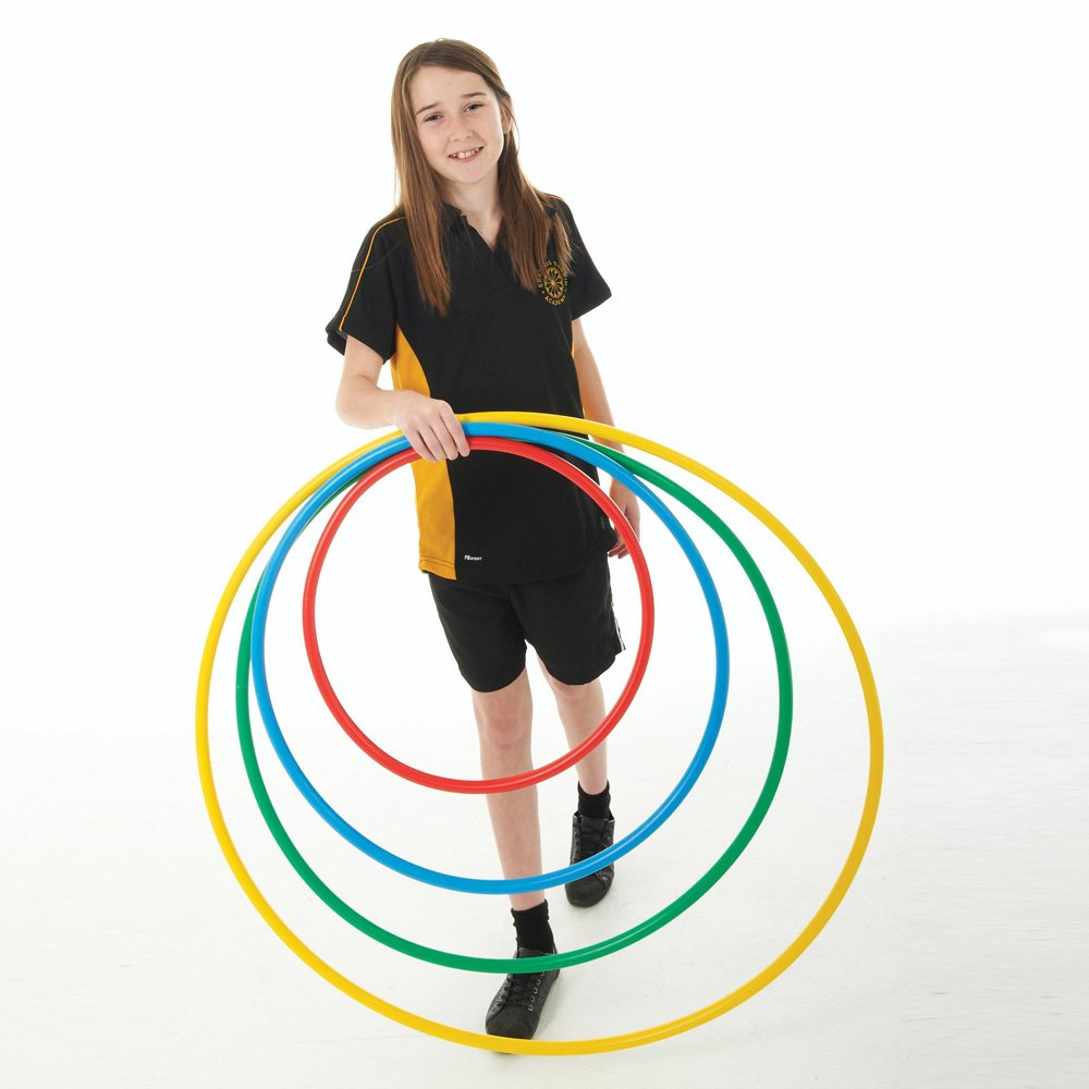 CreativeMinds UK Kids Outdoor & Indoor Activity Multi-Coloured Juniors Exercise De Luxe Hoop