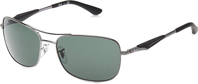 Ray-Ban RB 3515 Gafas de sol, Gunmetal, 61 para Hombre: Amazon.es ...