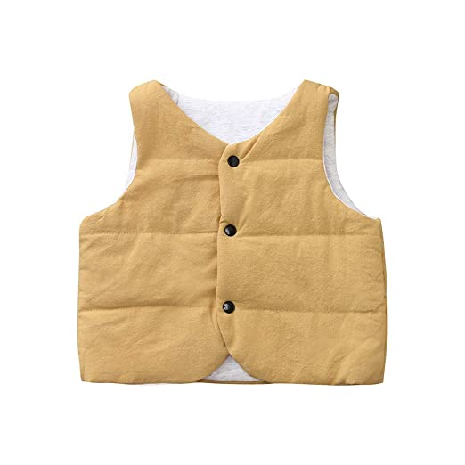 KpopBaby Discount Toddler Baby Girls Boys Kids Sleeveless Solid Winter Warm Vest Coats