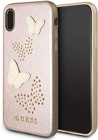 online store 0916c 3a6d0 Guess Butterflies Case For Apple iPhone X, Pink: Amazon.co.uk ...