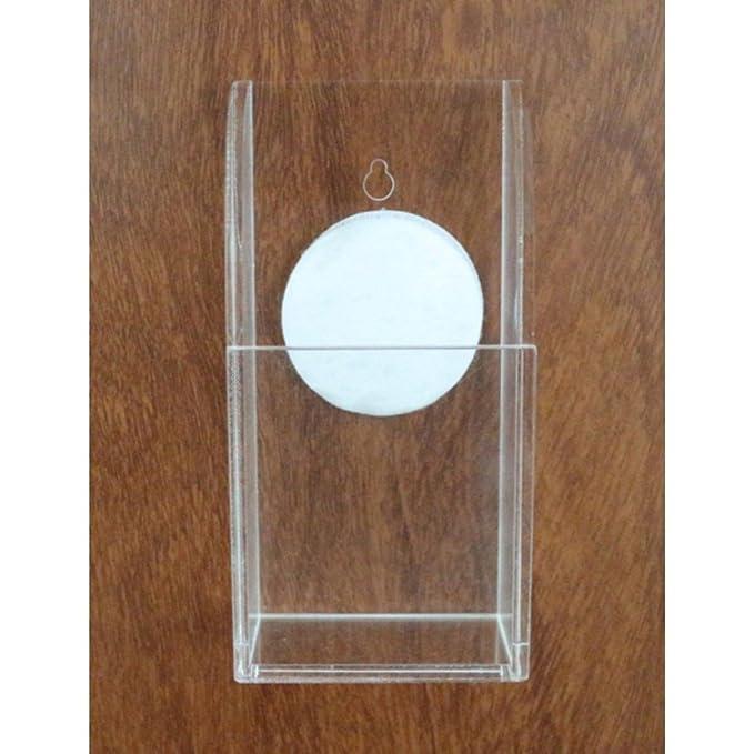 Oriskey 2 Grille Acrylique Support Mural Porte T/él/écommande TV Air Conditionn/é Transparent Rangement Bo/îte